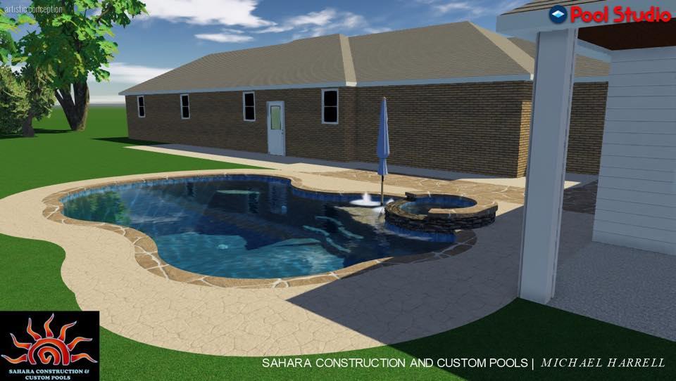 Cruickshank Swimming Pool Katy Texas Pool Builder Sahara Pools Katy Tx
