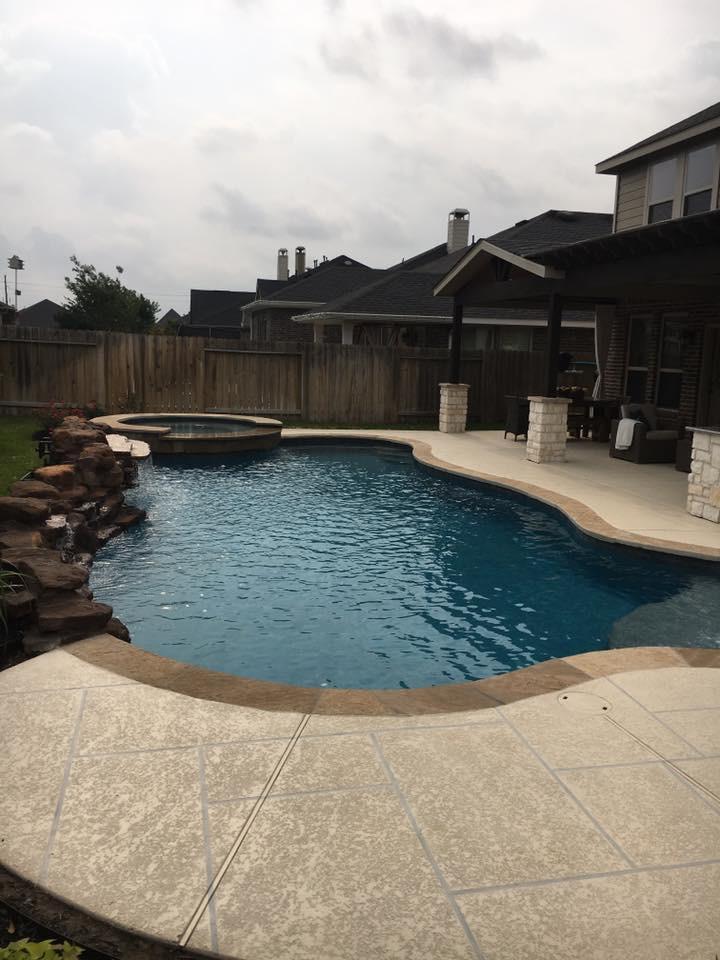 leflar pool patio firethorne katy texas pool builder