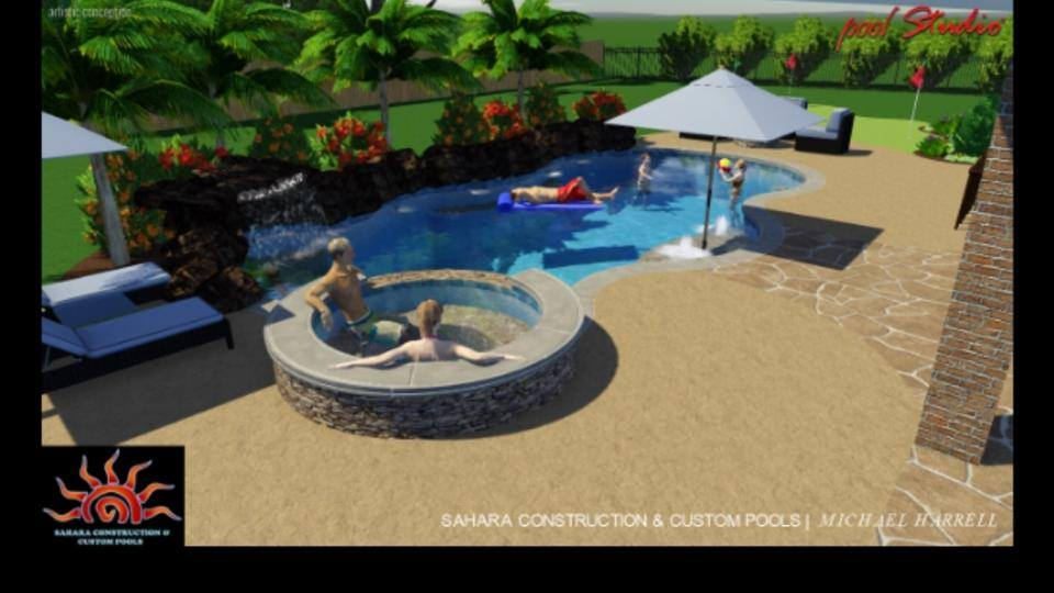 Williamson Swimming Pool Katy Texas Pool Builder Sahara Pools Katy Tx