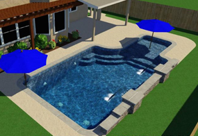 Custom Designed Pools in Katy, TX