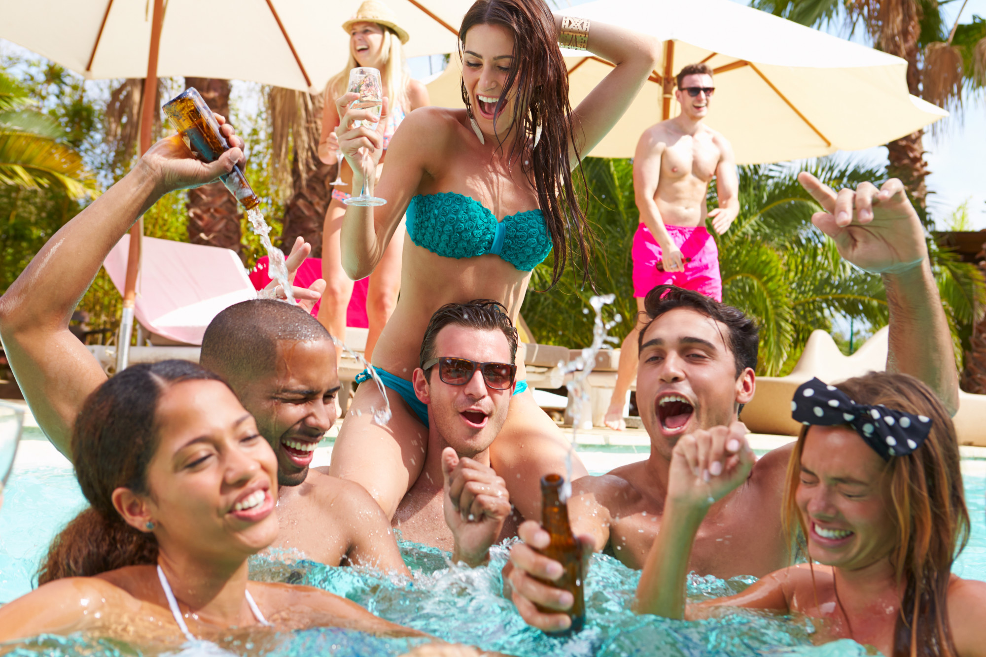8 Fun and Festive Pool Party Themes for the Holidays